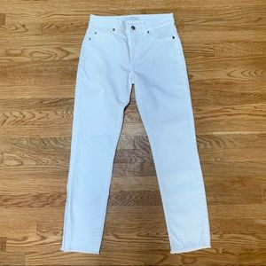 7 For All Mankind 26 Roxanne White Skinny Jeans